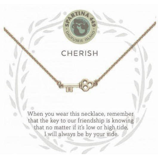 Cherish/Key Gold Necklace