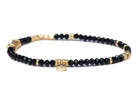 Stretch Bracelet- 3mm Jet Black