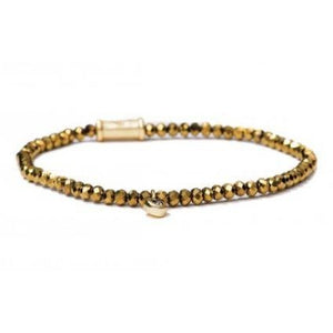 Stretch Bracelet 3mm Mirror Gold