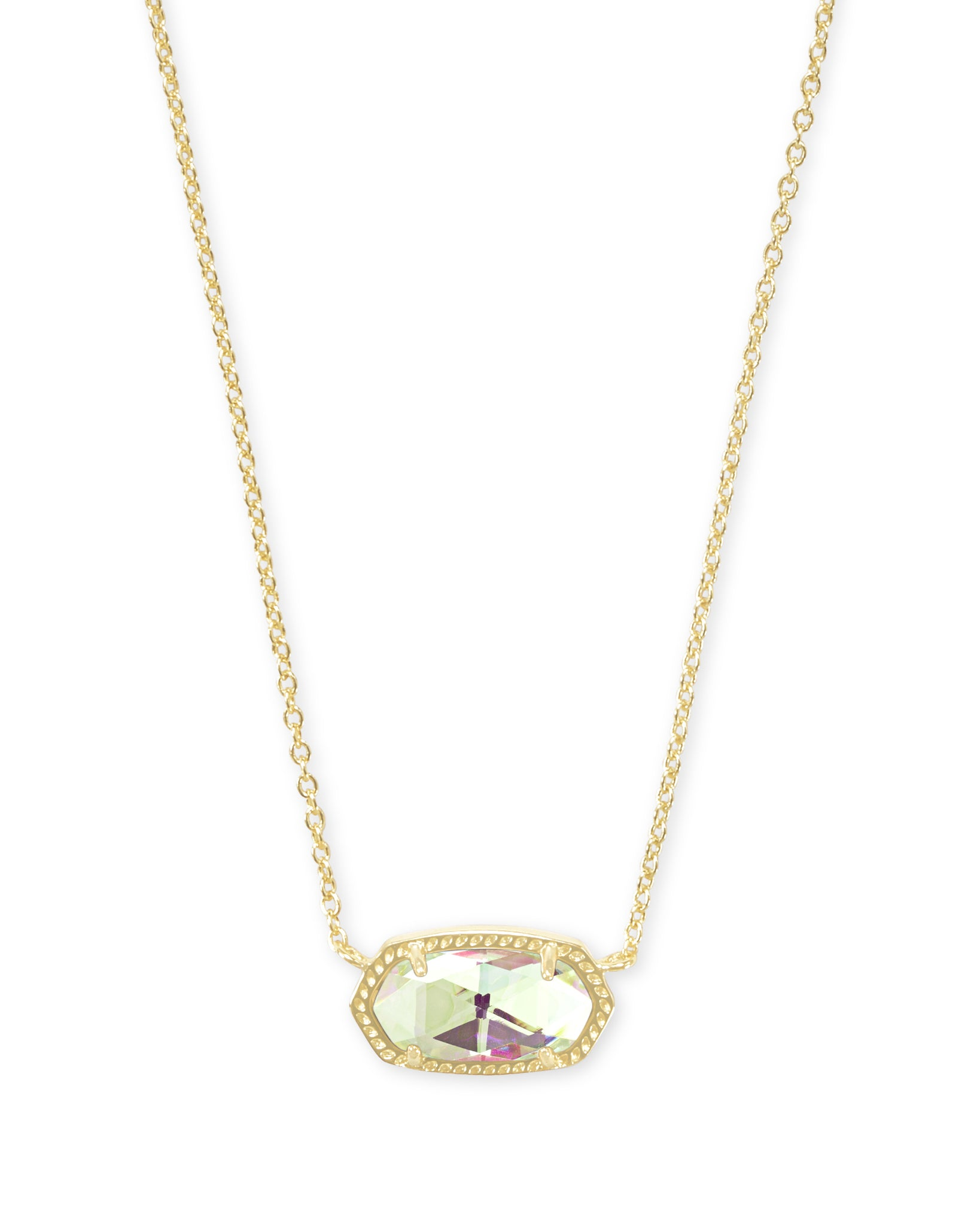Elisa Gold Pendant Necklace In Dichroic Glass