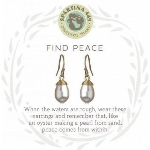 Find Peace- Pearl Earrings