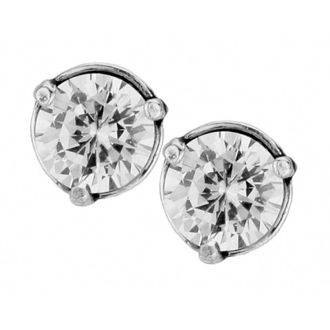 Brilliance 7MM Post Earrings