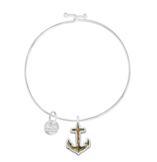 Sterling Silver Anchor Bracelet- Fire Island Sand