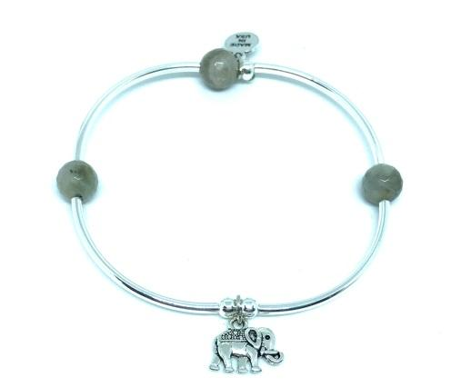 Soft Bangle Charm Bracelet Elephant