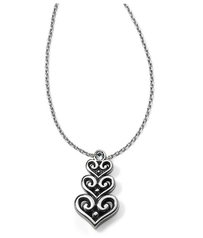 Alcazar Heart Trio Short Necklace