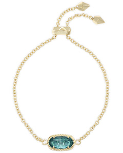 Elaina Adjustable Chain Bracelet in Gold London Blue
