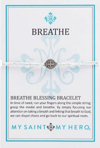 Breathe Blessing Bracelet Silver