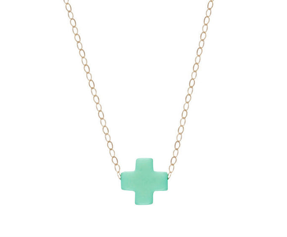 Signature Cross Necklace- Gold