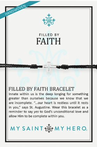 Filled By Faith Bracelet Silver Black