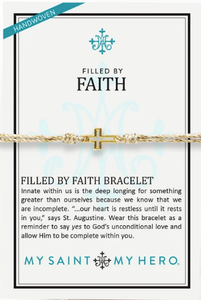 Filled By Faith Bracelet Metallic Gold