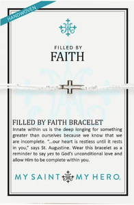 Filled By Faith Bracelet Metallic Silver