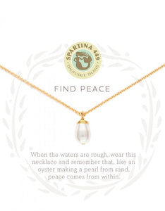 Find Peace Gold Necklace