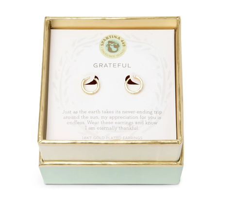 Grateful Gold Hoop Earrings