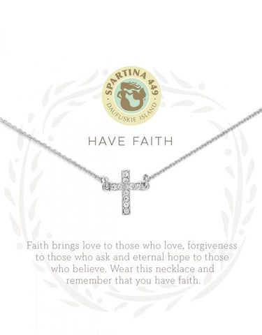 Have Faith Silver Necklace