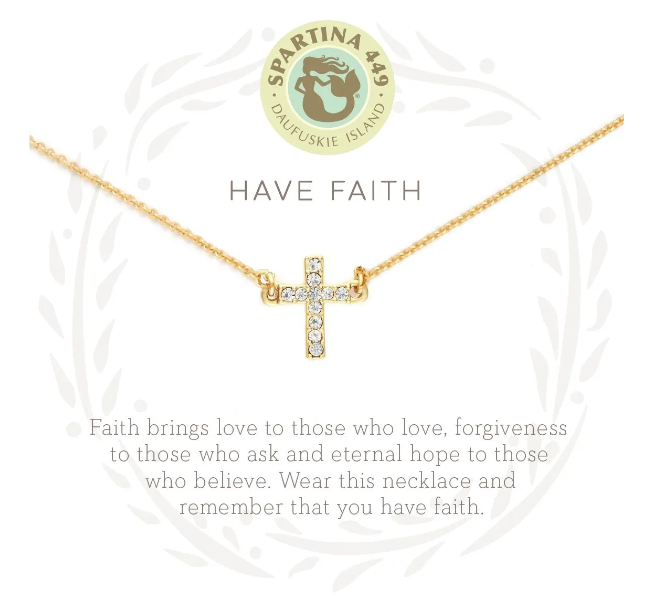 Have Faith Gold Necklace