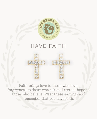 Have Faith Gold Earrings