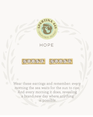 Hope Stud Gold Earrings