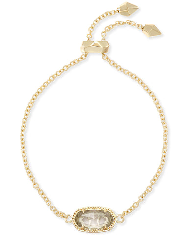 Elaina Gold Adjustable Chain Bracelet In Clear Crystal