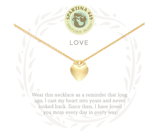 Love/Heart Gold Necklace
