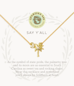 Say Y'all/Palm Gold Necklace