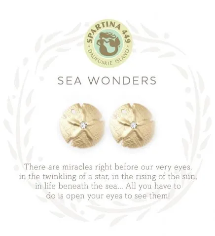 Sea Wonders Gold Earrings