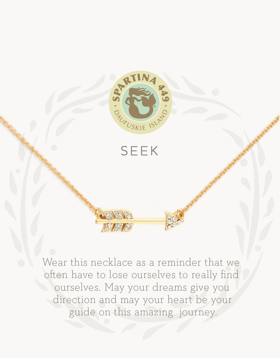 Seek/Arrow Gold Necklace