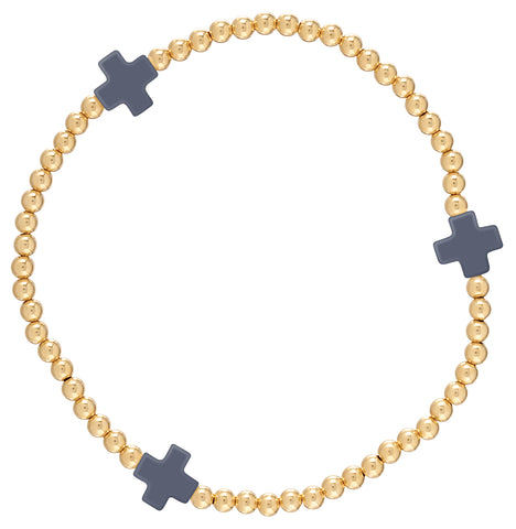 Signature Cross Bracelet- Gold