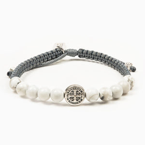 Wake up and Pray Bracelet- Howlite