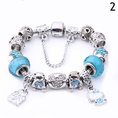 Very Hello Kitty Murano Glass Bead Bracelet – Poochie & Telly Pet Boutique GP24