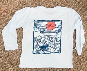 SPF50 Arctic Blue Pacific Wave Youth Long Sleeve