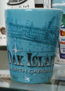Oak Island Lighthouse Shot Glass