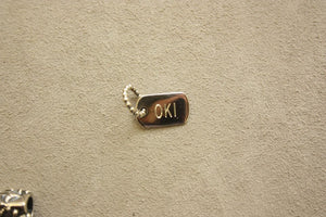 Dog Tag Style Charm