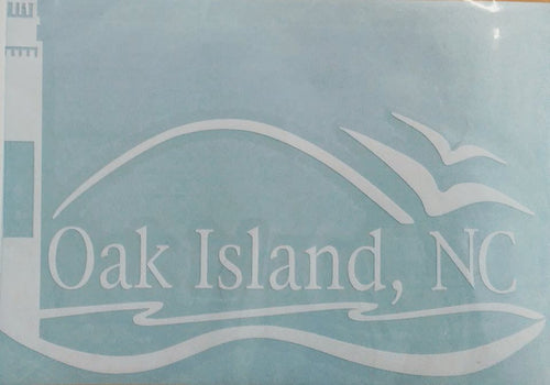Custom Oak Island Lighthouse Decal - White