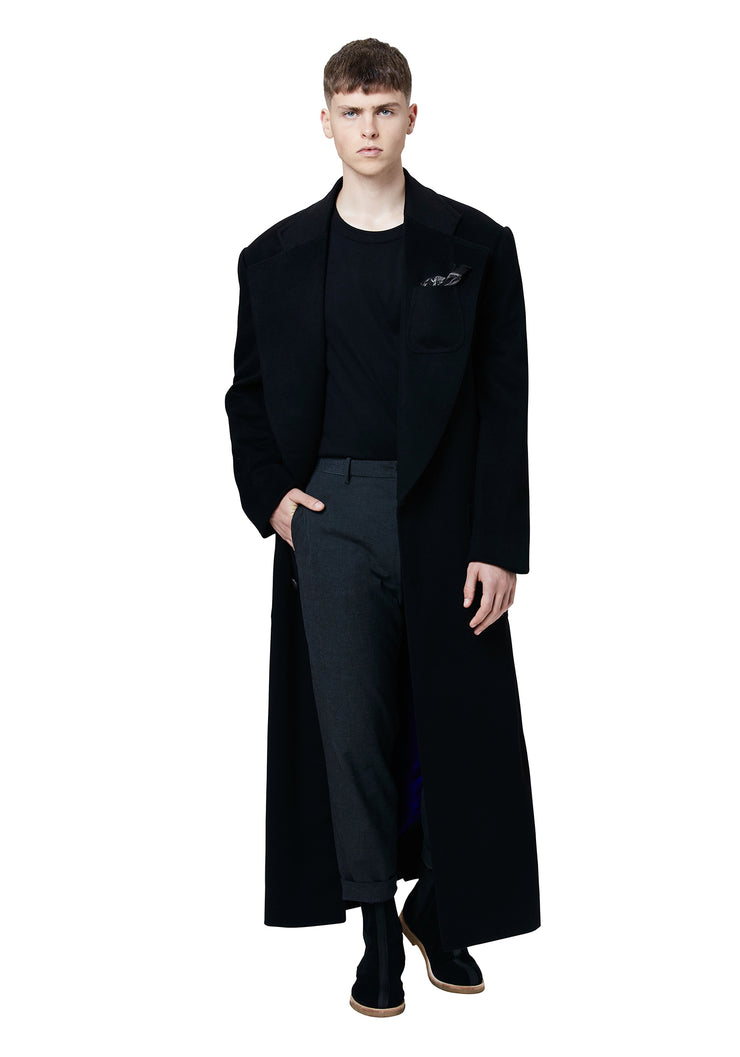 Pearl Cashmere Notch Lapel Overcoat