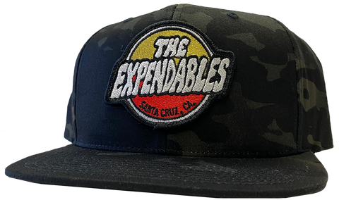 Surf Shop Patch Snapback - Black Camo