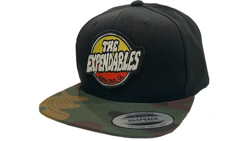 Surf Shop Patch Snapback - Black / Black Camo Bill