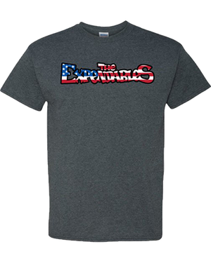 """Stars n Bars"" Uni-Sex T-Shirt - Heather Grey"