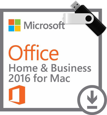 Microsoft Office for Mac Home and Business 2016 with USB Installation Media