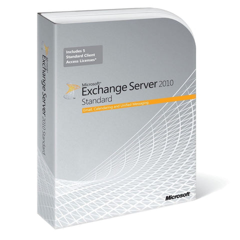 Microsoft Exchange Server 2010 Standard Edition - 64-bit + 5 CALs - TechSupplyShop.com