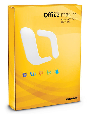 Microsoft Office Home and Student 2008 for Mac License - TechSupplyShop.com