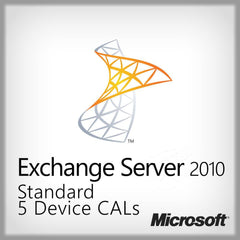 Microsoft Exchange Server 2010 Standard CAL 5 Device CALs License