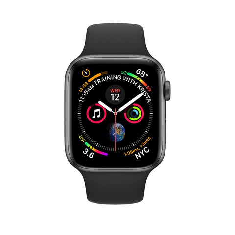 Apple 44mm Aluminum Series-4 GPS + Cellular Watch - Space Gray