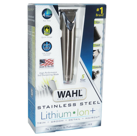 WAHL Rechargeable Lithium Ion All-In-One Trimmer with Kit - Silver | Wahl