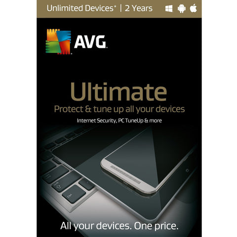 AVG Ultimate 2017 Unlimited Devices - 2 Years | AVG