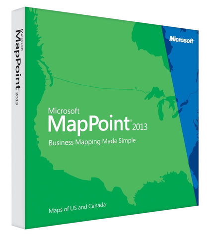 Microsoft MapPoint 2013 PC License - TechSupplyShop.com