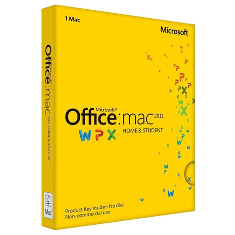 Microsoft Office for Mac Home and Student 2011 Product Keycard License - TechSupplyShop.com - 1