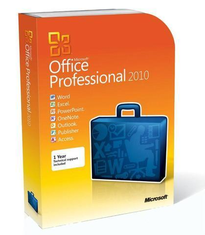 Microsoft Office Professional 2010 - Box Pack - 32/64 Bit | Microsoft