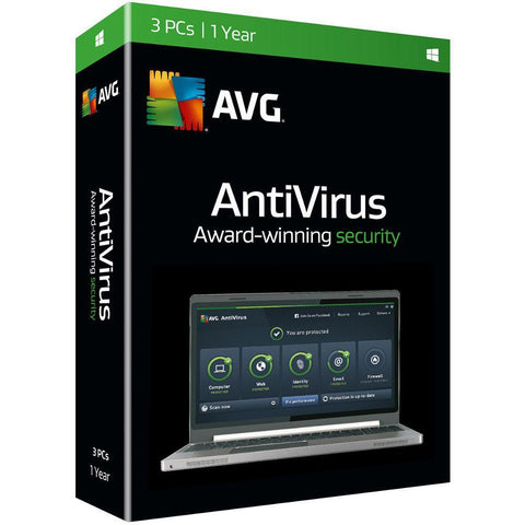 (Renewal) AVG Antivirus - 3 Users - 1 Year - TechSupplyShop.com