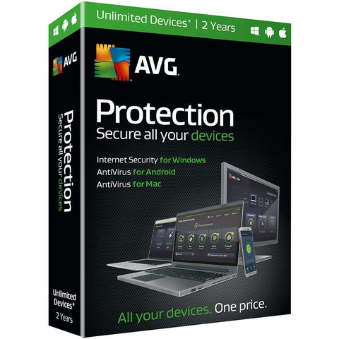 (Renewal) AVG Protection 2 Years Retail Box (PC/Mac) - TechSupplyShop.com