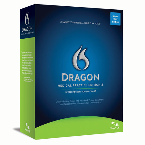 Nuance Dragon Medical Practice Edition 2 - 1 License Retail Box - TechSupplyShop.com